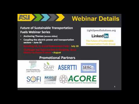 Webinar 2: Coupling the Electric Power and Transportation Sectors