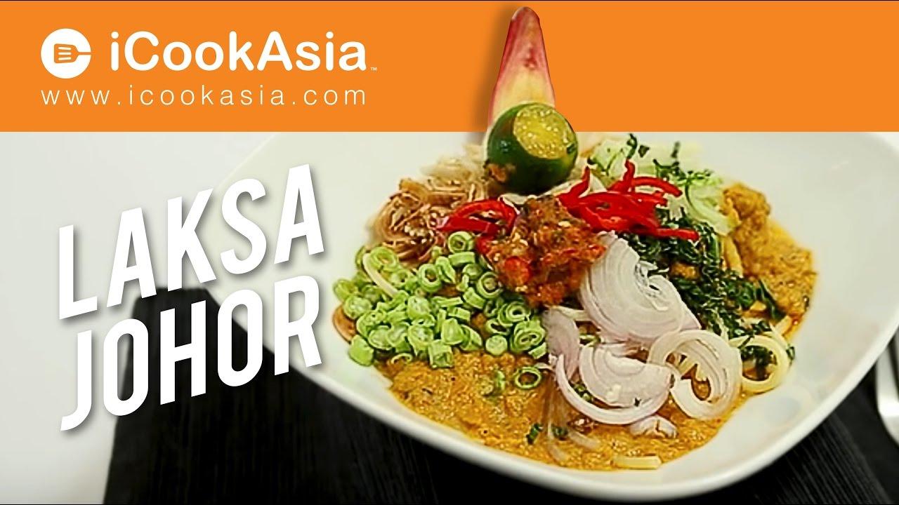 Resepi Laksa Johor   Try Masak   iCookAsia - YouTube