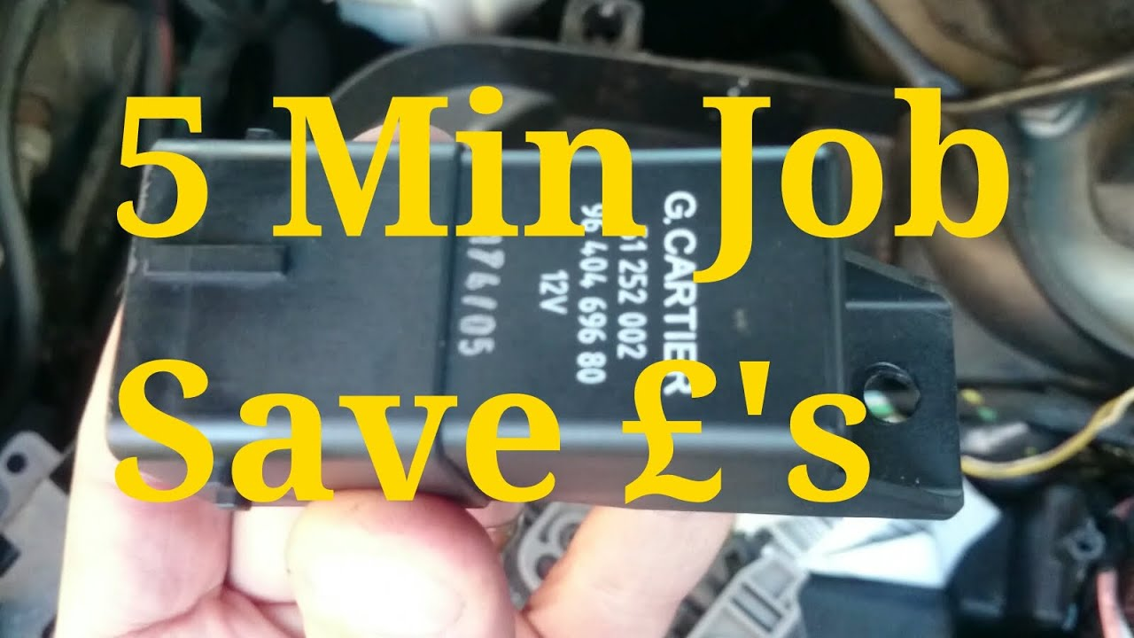 How To Fit A Glow Plug Relay On Peugeot 407 2 0 Hdi