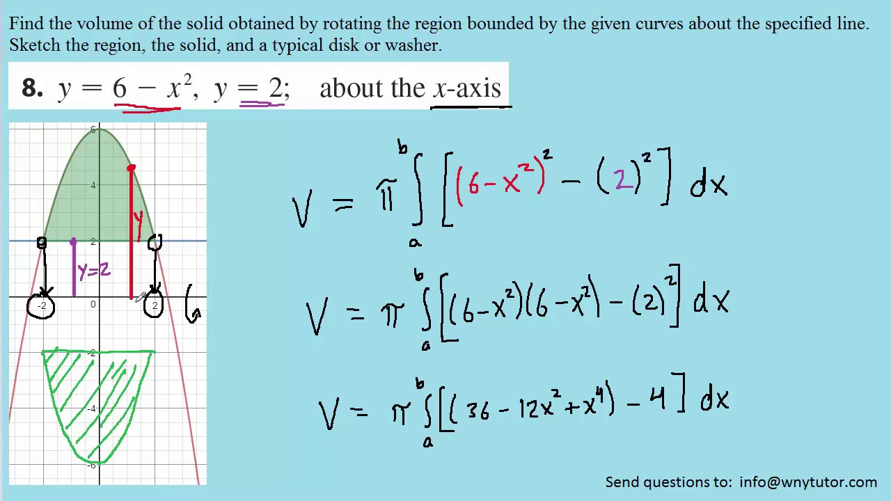 Stewart Calculus 8th Edition Solutions Chapter 6 2 8 Youtube