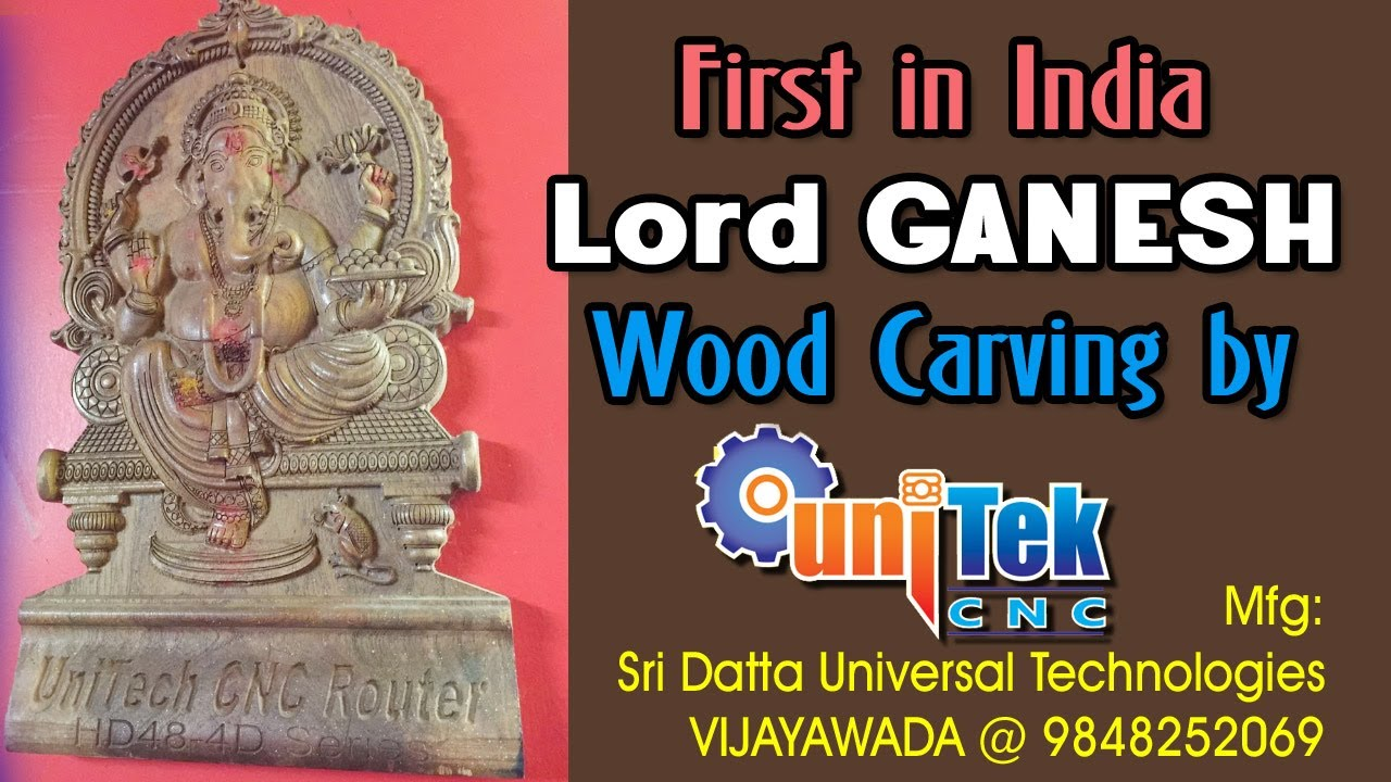 High speed cnc wood carving of Lord Ganesh - YouTube