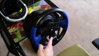 Another Black Friday Victory! ThrustMaster T150 steering wheel for PS4 car games.