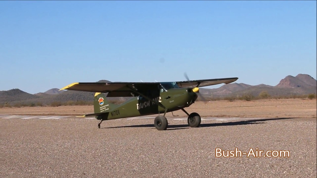 Bush air cessna 170 super stol demo youtube