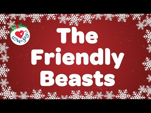 The Friendly Beasts with Lyrics Christmas Carol & Song | Children Love to Sing