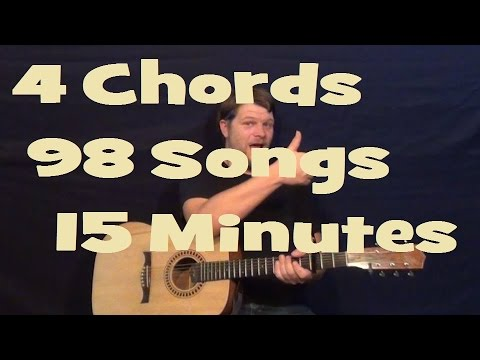 98 Songs 4 Chords 15 Minutes Easy Guitar Lesson How To Play