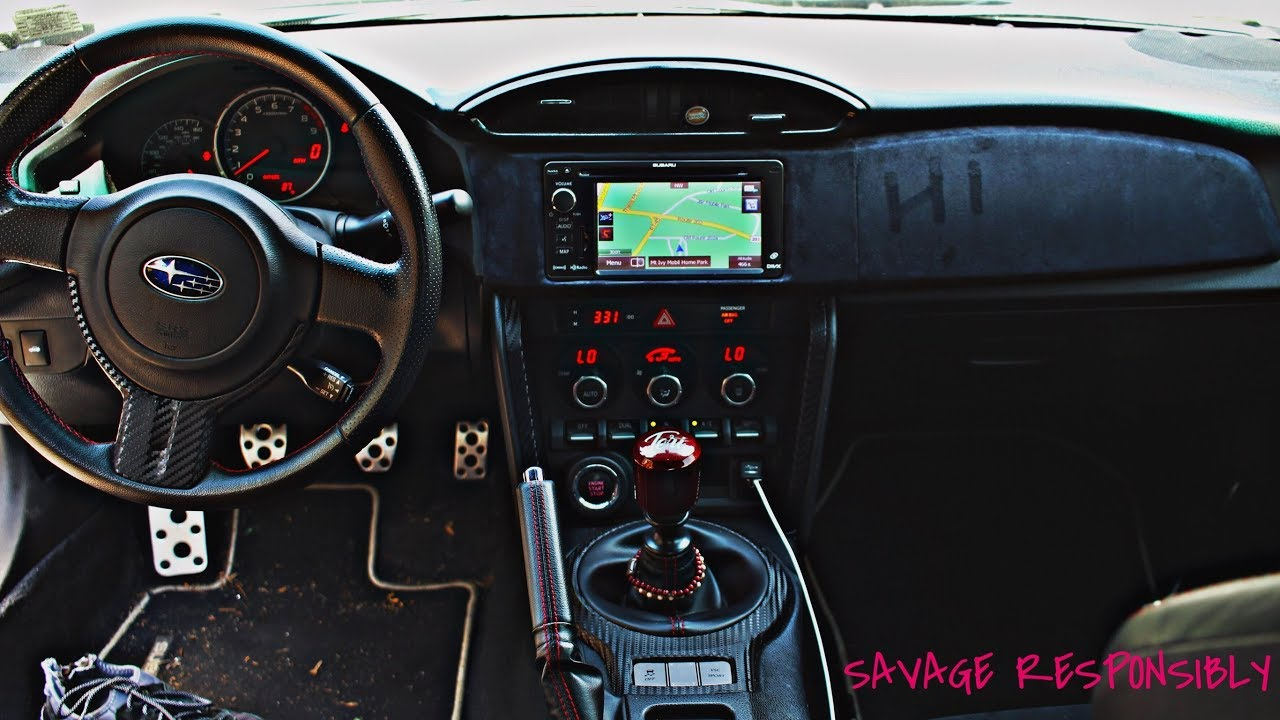Suede Wrapping Interior Of The BRZ