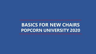 Basics for New Popcorn Chairs