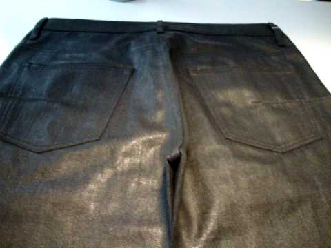 Dior homme waxed coated jeans