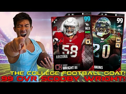 99 OVR SCOOBY WRIGHT! LTD PULL! THE UNFORGOTTEN GOAT OF COLLEGE FOOTBALL! MADDEN 17 ULTIMATE TEAM