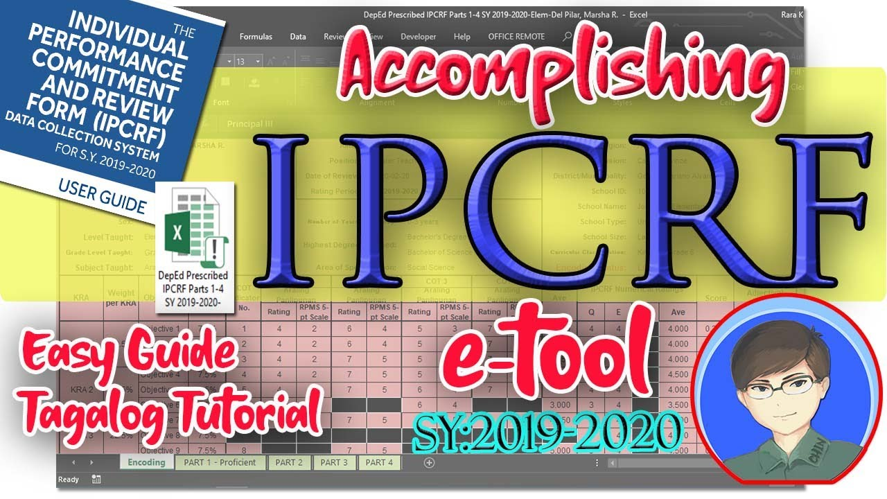 Accomplishing the IPCRF e-Tool SY 2019-2020 | EASY GUIDE TAGALOG TUTORIAL