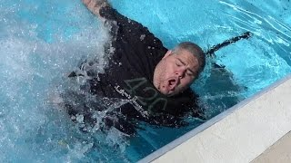 Repeat youtube video THROWN IN THE POOL PRANK!