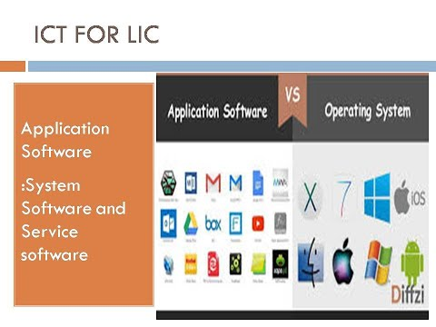 Application  Software:System Software And Service Software