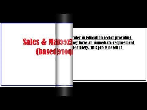 Sales & Marketing Executive (based in Singapore)