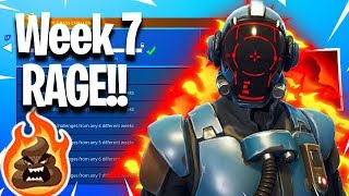 Unlocking the BlockBuster Skin RAGE!! - Week 7 Challenges - Ps4 Fortnite Battle Royale