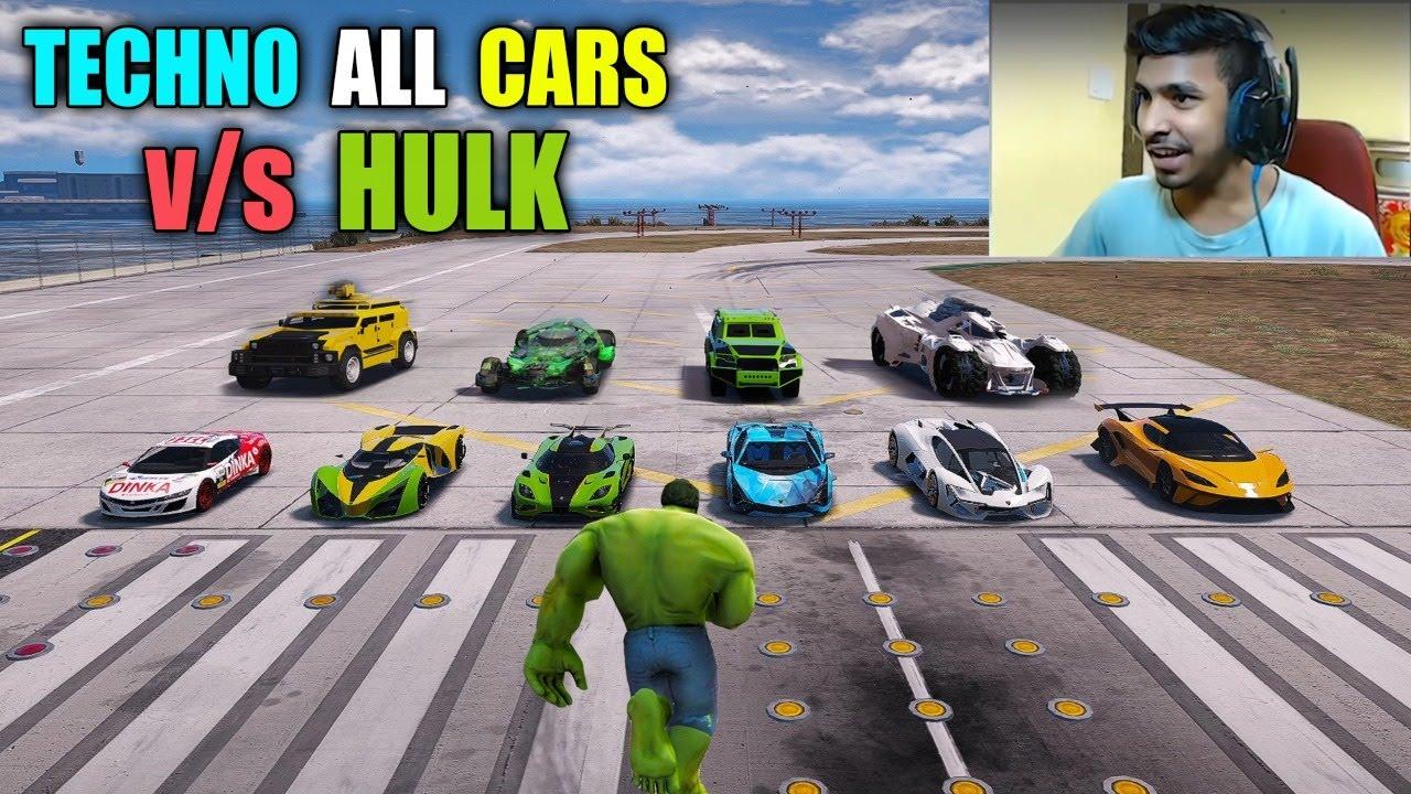 GTA 5 LIVE STREAM #8 | TECHNO ALL CARS VS HULK | RG GAMER