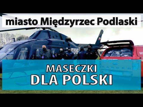 Helikopter z maseczkami wylądował w Międzyrzecu Podlaskim