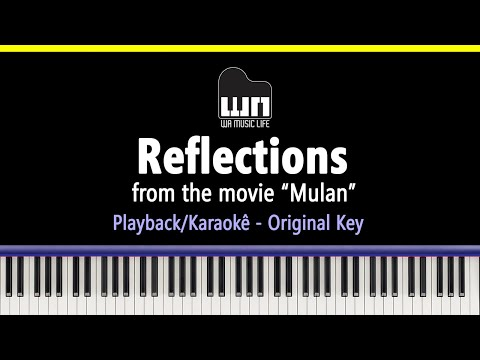 Reflections (Mulan) - Piano Playback for Cover / Karaoke