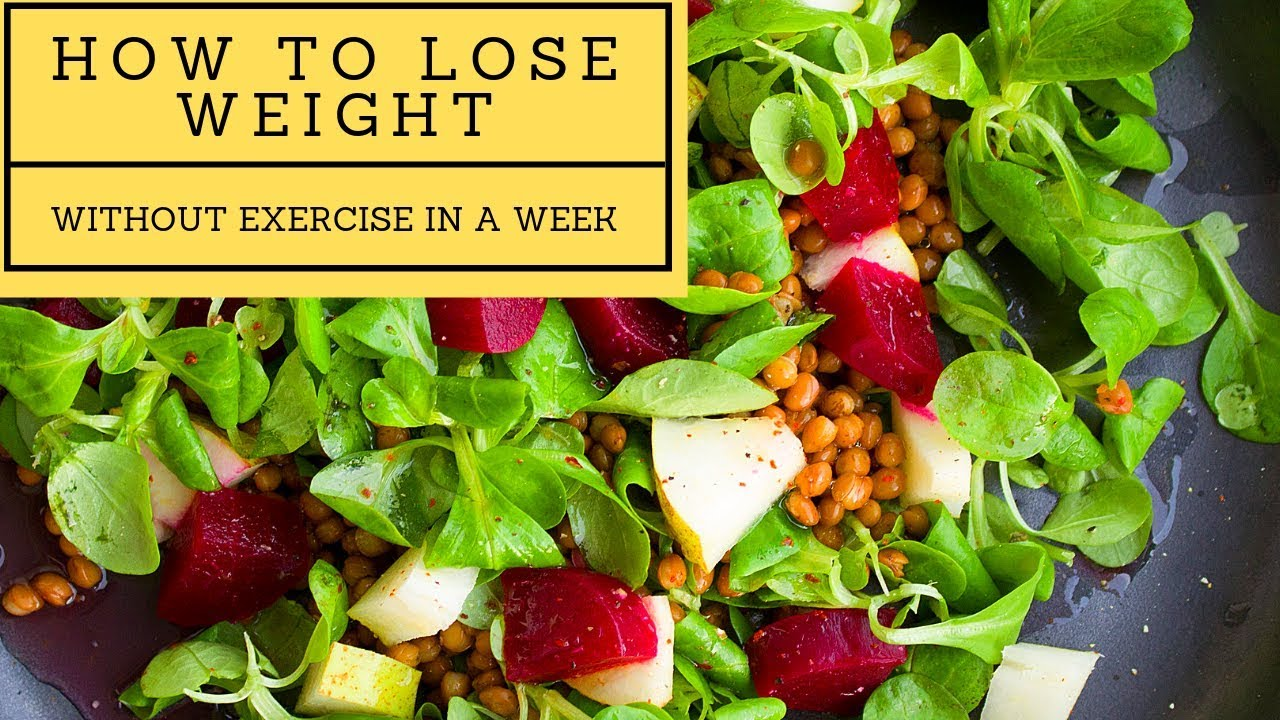 How To Lose Weight Fast Without Exercise In A Week For Beginners 9 Easy Steps Youtube