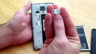 Samsung Galaxy Note 4 - How to insert / remove SIM Card