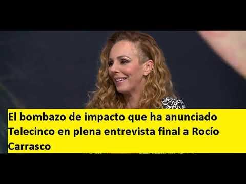 El bombazo de impacto que ha anunciado Telecinco en plena entrevista final a Rocío Carrasco