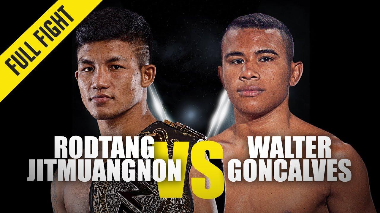 Rodtang Jitmuangnon vs. Walter Goncalves | ONE Full Fight | October 2019