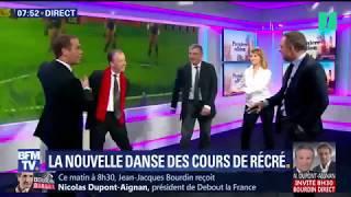 Christophe Barbier et l'équipe de BFM testent la danse du
