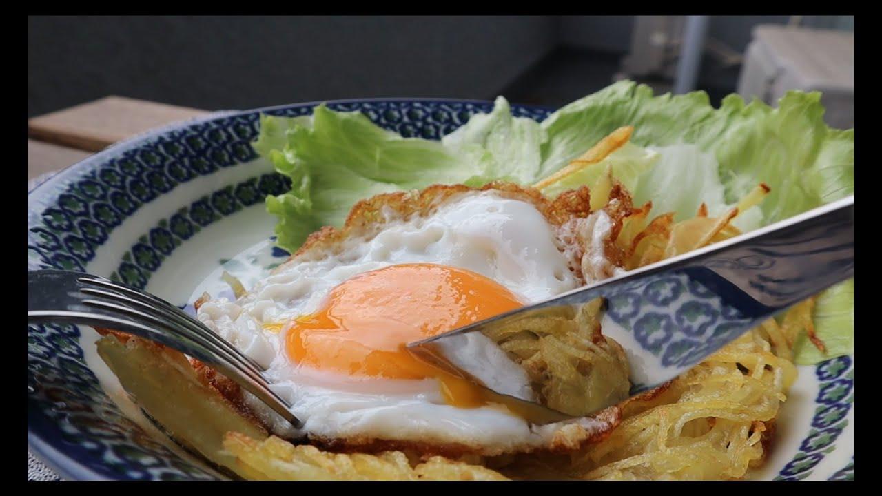 朝ごはんにハッシュドポテト風 SHIORI先生リスペクト【ベランダ朝ごはん】