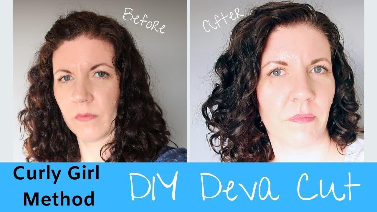 Curly Girl Method  Cutting Curly Hair  DIY Deva Cut  Home Family Life