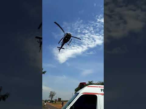 Acidente neste momento entre São Tomé e Japurá com duas pessoas feridas