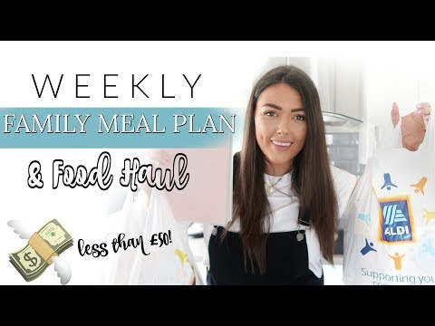FAMILY OF 4 CHEAP WEEKLY FOOD SHOPPING | HAUL + MEAL PLAN