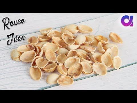 How to reuse pista shell | Room decor 2019| heart shaped wall hanging | Artkala