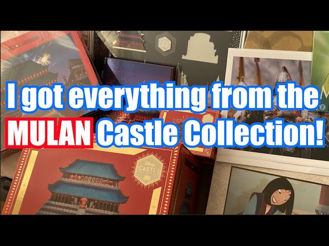 Disney Castle Collection Every Item From The Disney Store Mulan Castle Collection Series 3 10 Youtube