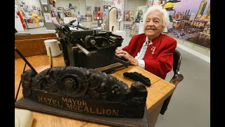100 YEARS OF HAZEL: Exhibit Showcases ageless former mayor in her prime!