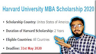 Harvard University MBA Scholarship in USA for 2020 || Knowlege is Power || Talha Khalil