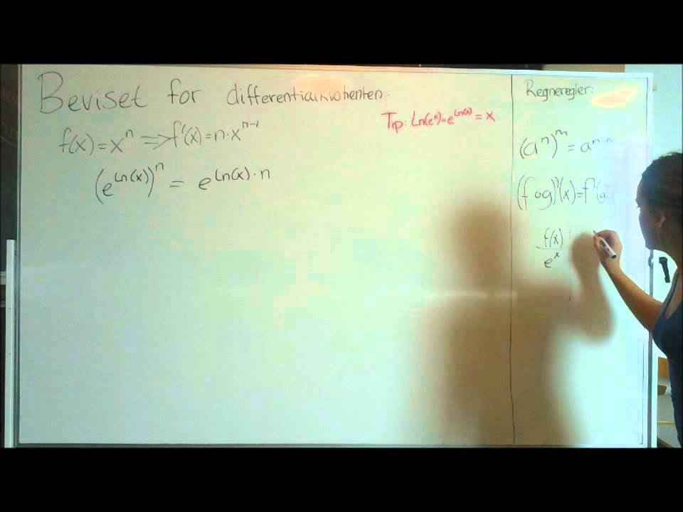 Video Matematik - Differentialkvotient for x^n