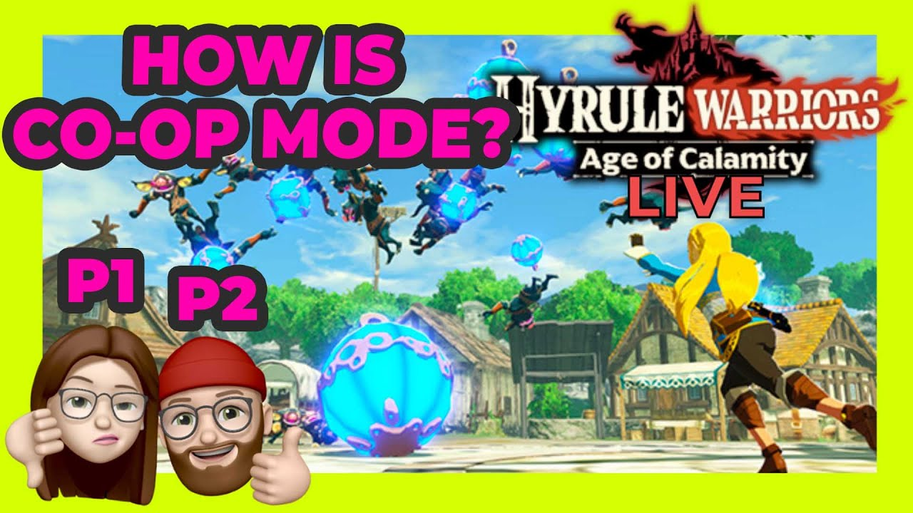 Hyrule Warriors Age Of Calamity 2 Player Co Op Gameplay How To Play 2 Player In Hyrule Warriors Youtube