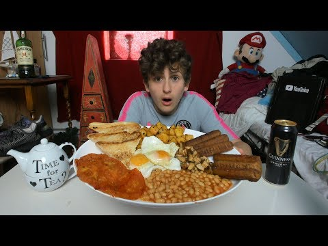 IRISH BREAKFAST MUKBANG🇮🇪!| TRADITIONAL IRISH BREAKFAST😱
