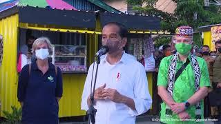 Download Keterangan Pers Presiden Jokowi usai Berikan Bantuan Modal PKL, Tarakan, 19 Oktober 2021