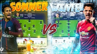 DIE BESTEN SOMMERTRANSFERS ☀️ vs. WINTERTRANSFERS!! ❄️- FIFA 18 Experiment