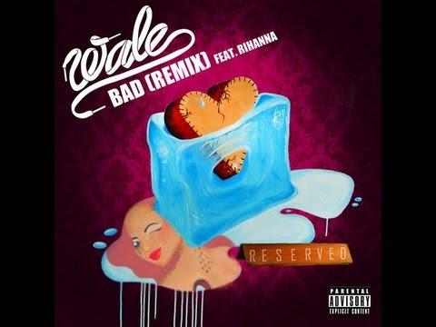 Wale ft. Rihanna - Bad (Remix) - Lyrics on Screen