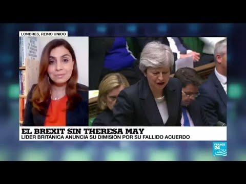 La primera ministra británica Theresa May anunció su renuncia para el 7 de junio