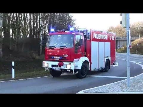 4 Freiwilige Feuerwehren | LKW UNFALL | FAHRER VERLETZT | Einsatzfahrten