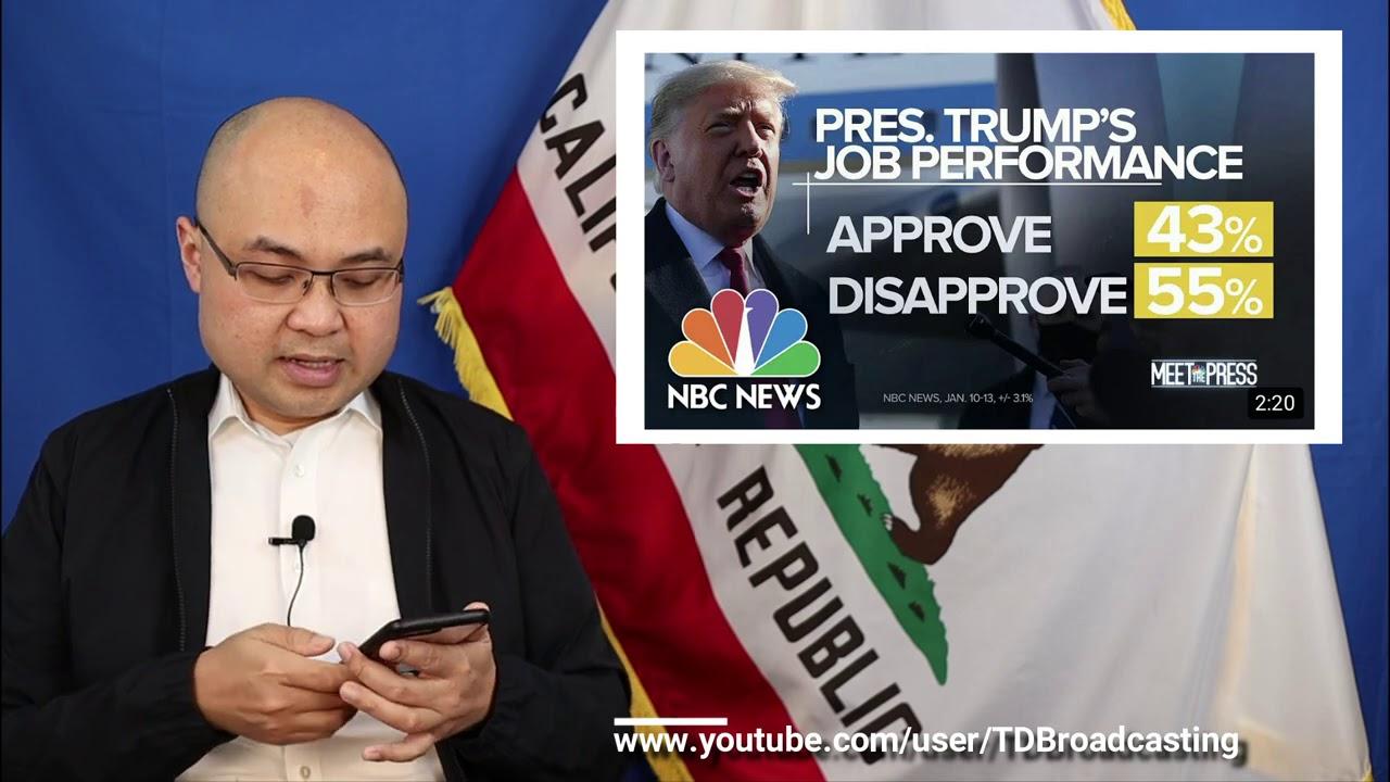 Nổi loạn, luận tội không ảnh hưởng đến tỷ lệ ủng hộ/phản đối với Donald Trump - 1.18.2021