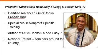 Webinar - QuickBooks for New Nonprofit Users - 2015-02-26