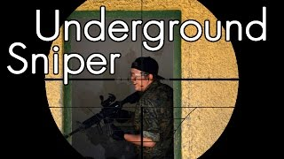 Airsoft Sniper Gameplay - Scope Cam - Underground Sniper