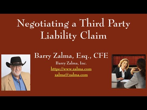 How to Negotiate a Settlement of a Third Party Liability Claim