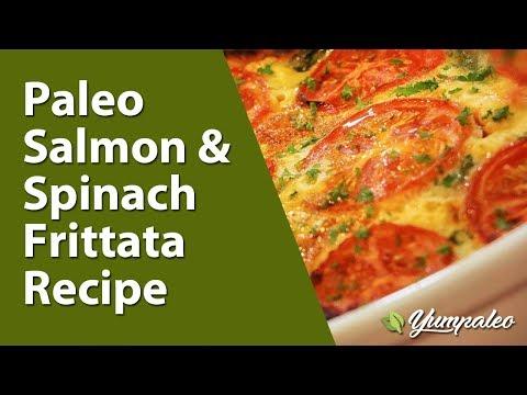 Paleo Salmon & Spinach Frittata Recipe