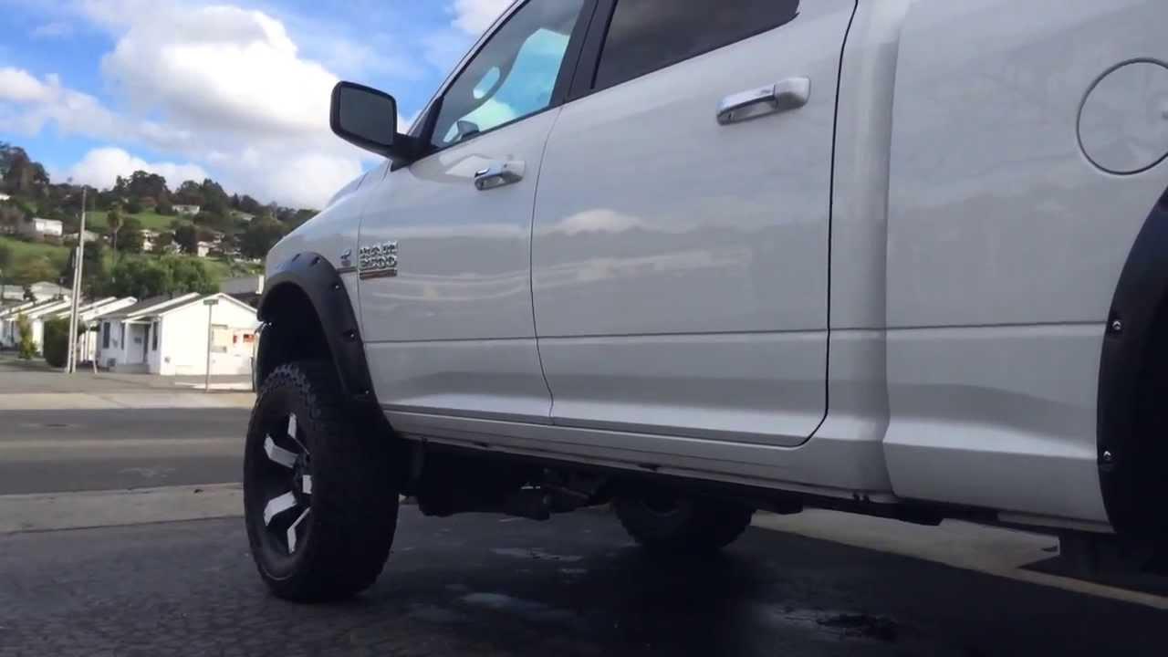 Lifted Dodge Ram >> 2014 Dodge Ram Cummins Turbo Diesel Lifted & Line-X'd - YouTube