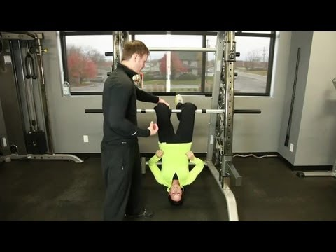 Hanging Upside Down From Your Knees as an Exercise : Exercise Plans