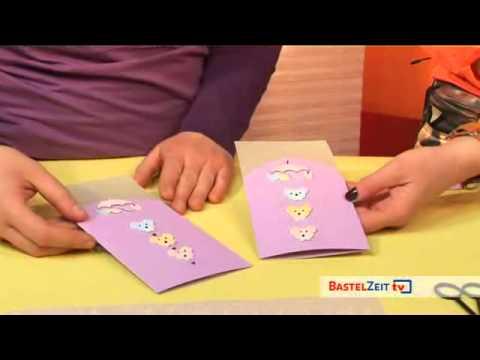 Bastelzeit TV 32 - Pfiffige Karten zu Taufe und Geburt